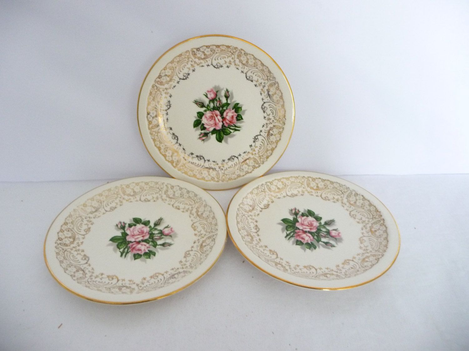 Georgian China - Tudor Rose Bread and Butter Plates Replacement Pieces by Saltofmotherearth on Etsy & Georgian China - Tudor Rose Bread and Butter Plates Replacement ...