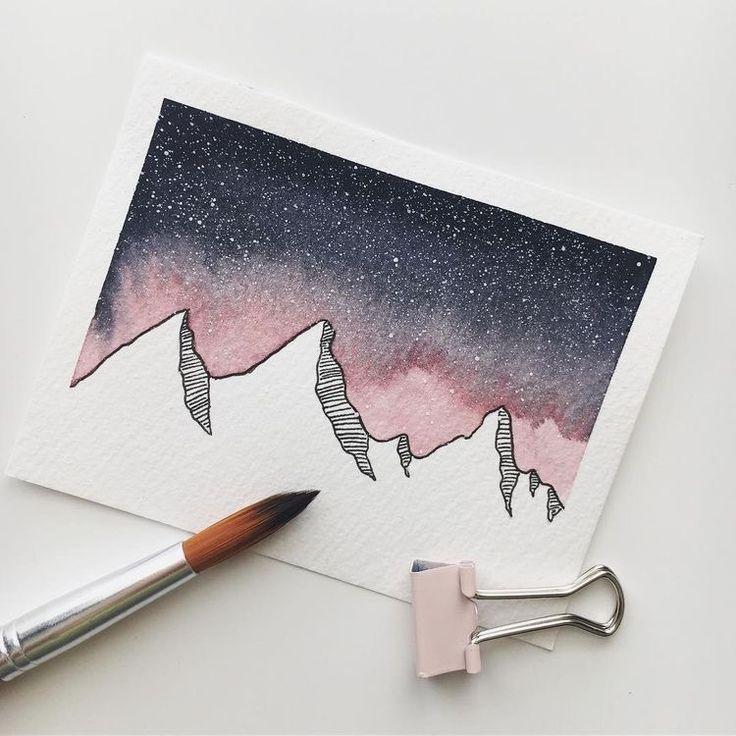 Berge und Himmel #doodle #doodleart – Merys Stores