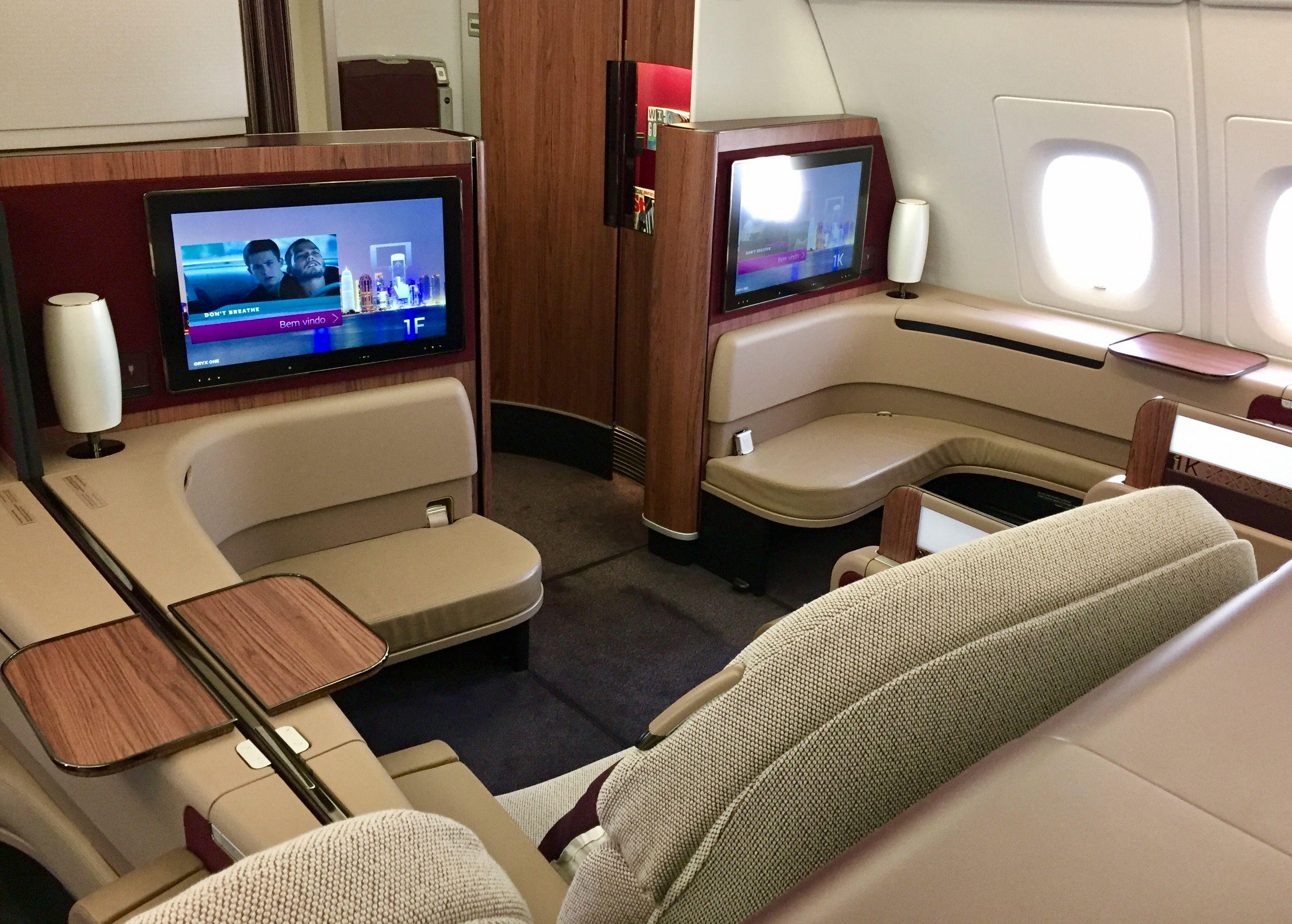 Flight review qatar airways first class flight review