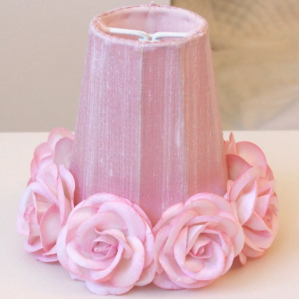 Pink chandelier shade with roses pink chandelier chandelier pink chandelier shade with roses mozeypictures Gallery