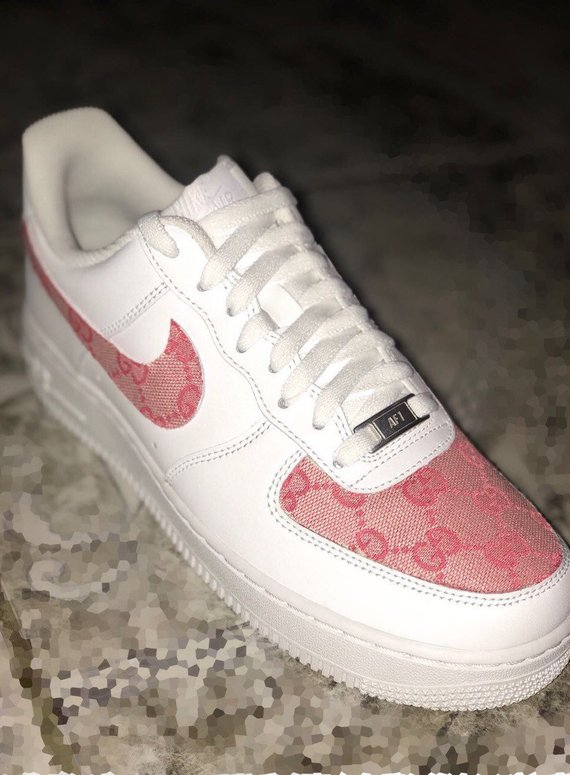 Air Force 1 Custom pink gucci in 2020