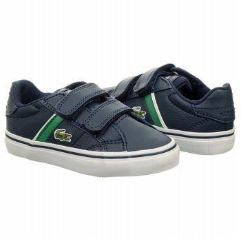 d7b888a4bad756 Kids Lacoste   Fairlead Velcro Sneaker Toddler Dark Blue Green Shoes ...