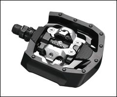 Shimano Click'r PD-MT50 SPD Pedals at https://www.blueskycycling.com/product/10217/44/Shimano_Clickr_PDMT50_SPD_Pedals.htm