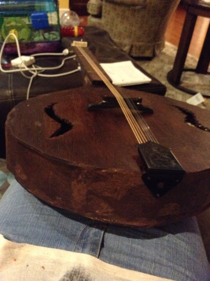 25 hour school project: building a mandolin with one of my good friends