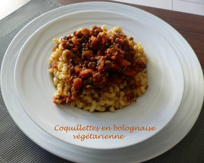 Coquillettes en bolognaise végétarienne – Foodista challenge # 59