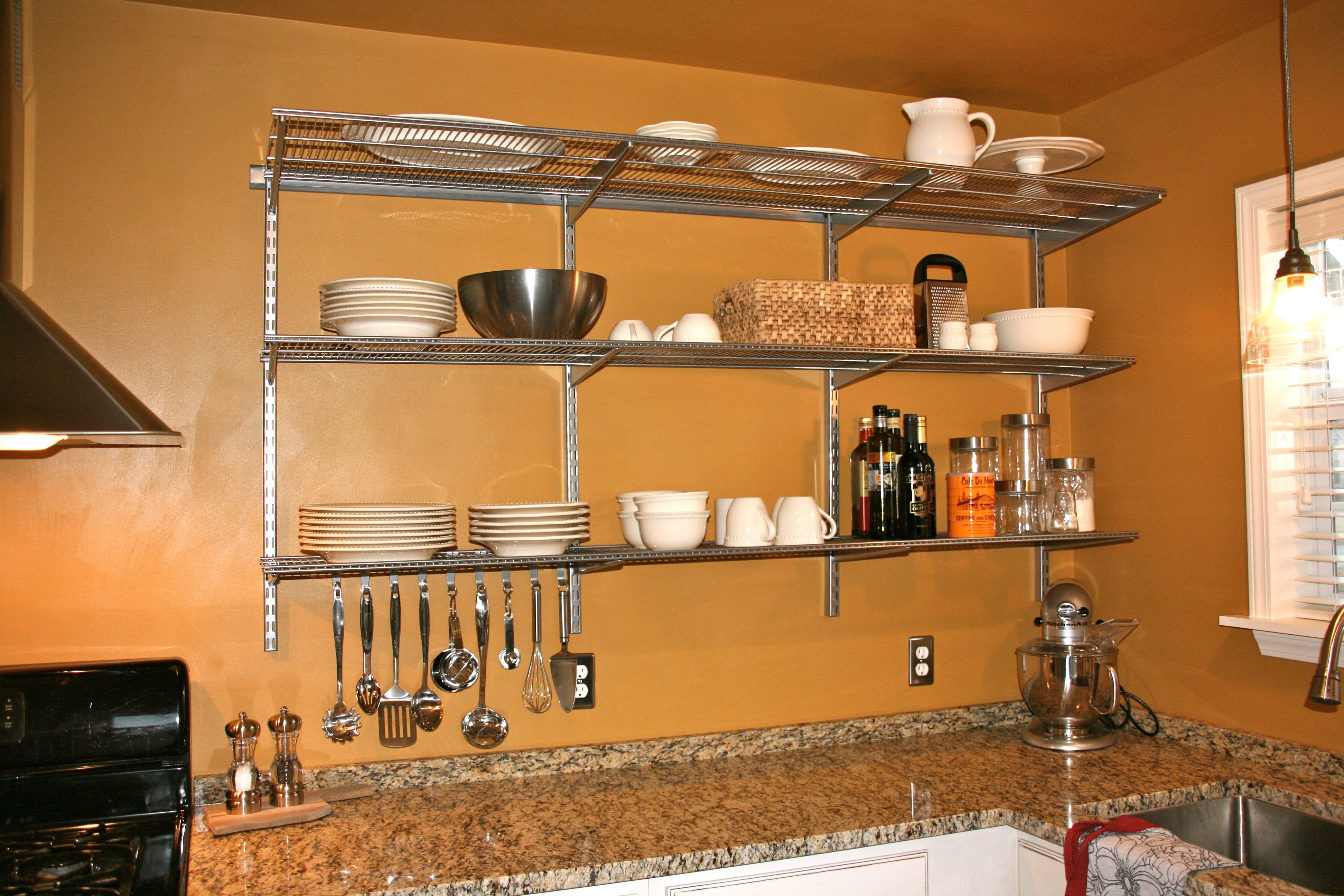 Stainless Steel Kitchen Wall Shelving Units In 2020 Wall Mounted