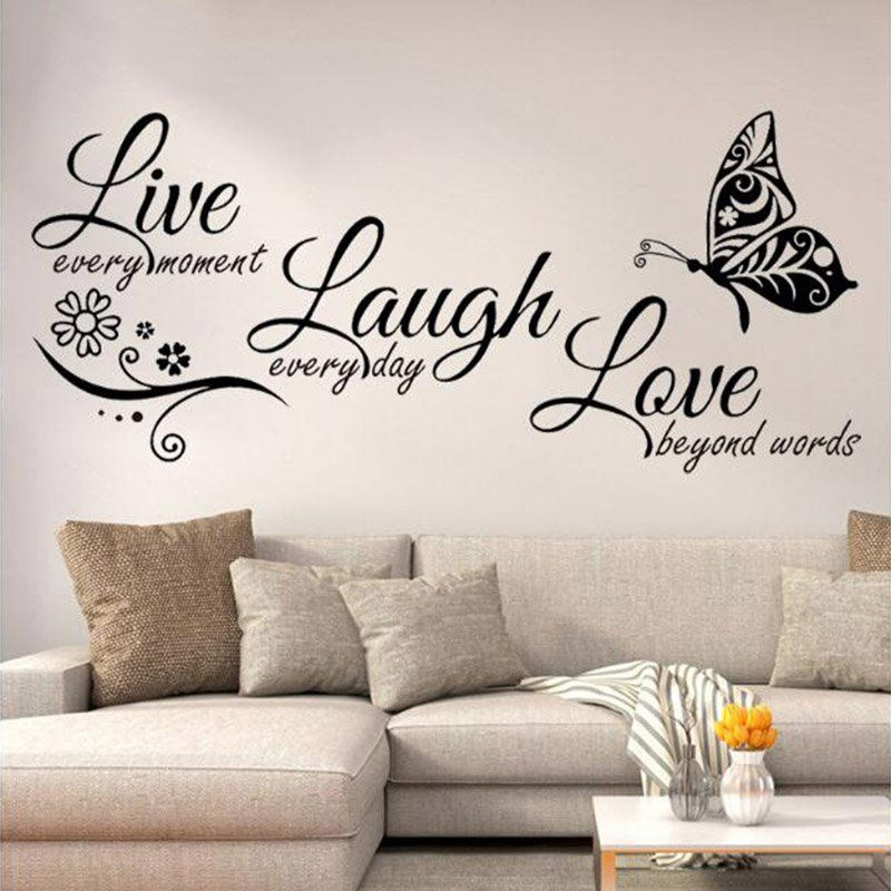 Live Laugh Love The Alphabet Stickers Easy To Tear And Stick Diy Wall Sticker Beddinginn Com In 2020 Sticker Wall Art Modern Wall Decals Living Room Decals