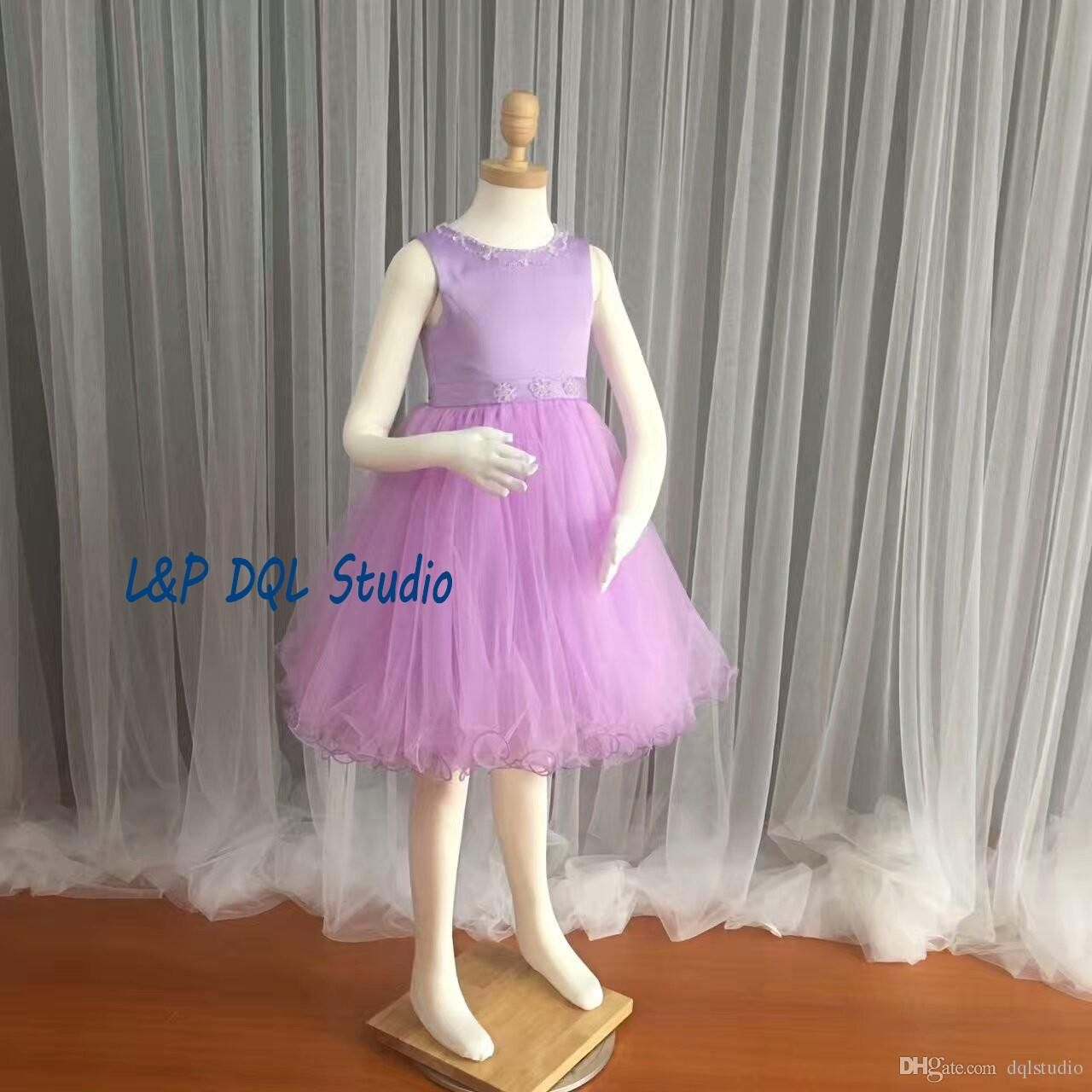Light purple flower girls dresses pleats tulle with satin ball gown light purple flower girls dresses pleats tulle with satin ball gown girls pagenat dresses cheap real izmirmasajfo