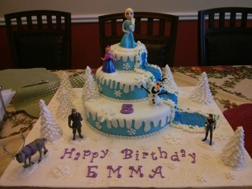 Disney frozen birthday cake Homemade Elsa and Olaf by Nathalie