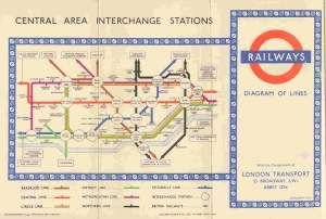 An old school underground map