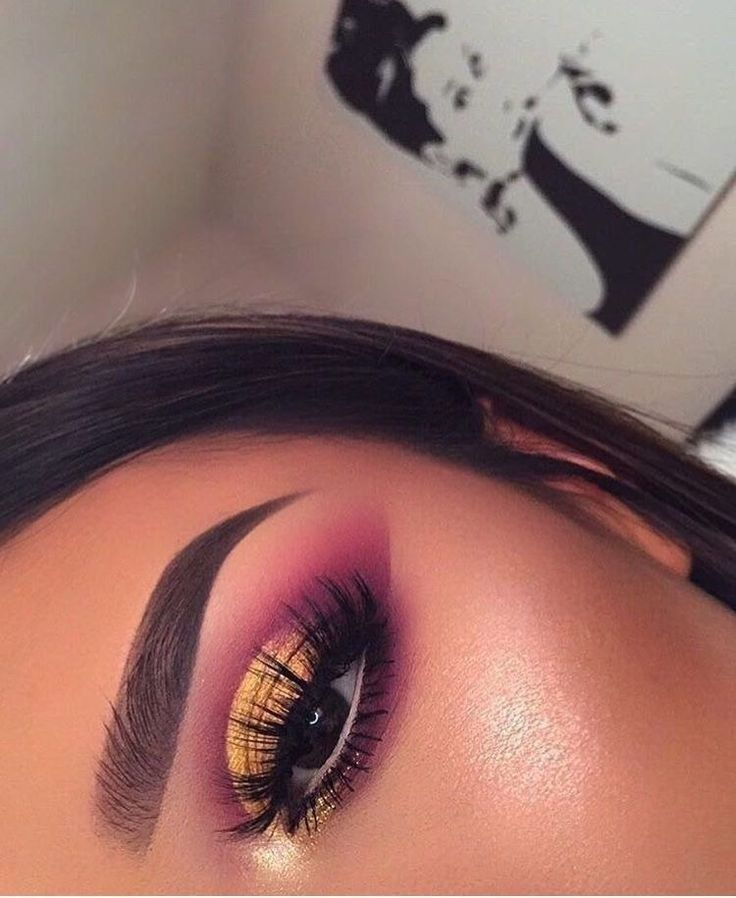 Brown gold and pink autumn makeup ideas to try