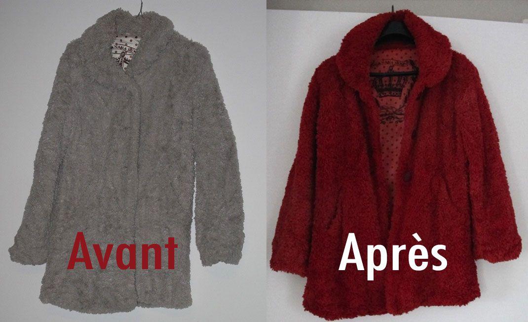 teindre un manteau en fausse fourrure avec la teinture idye poly couture tricot teinture. Black Bedroom Furniture Sets. Home Design Ideas