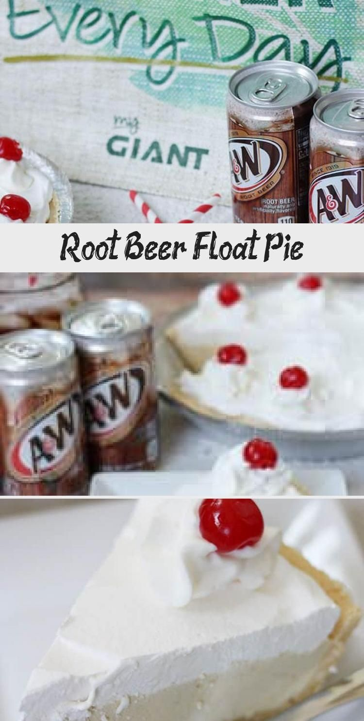 Root Beer Float Pie #rootbeerfloat This Root Beer Float Pie recipe is the perfect no-bake dessert for a family night! Shortbread crust with vanilla pudding, A&W® Root Beer, whipped cream, and cherries! #rootbeer #pie #nobake #dessert #recipe #DessertRecipesPeanutButter #DeliciousDessertRecipes #FruityDessertRecipes #GourmetDessertRecipes #ColdDessertRecipes #rootbeerfloat