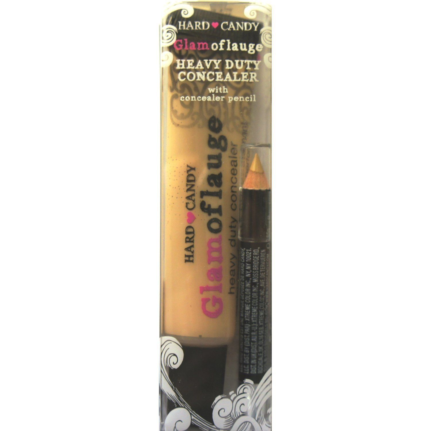 Hard Candy Glamoflauge HEAVY DUTY CONCEALER with pencil (LIGHT ...