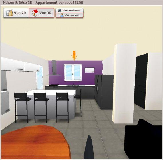 Appartement 3D   wwwmaison-deco/2d-3d Cuisine