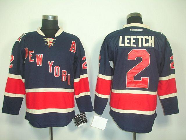 9dbdd3a33 New York Rangers 2 Brian LEETCH 85TH Anniversary Jersey Navy Blue ...