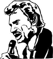 Stickers JOHNNY HALLYDAY - Musique/chanteurs, groupes etc... - Destock-Stickers   Pochoir ...