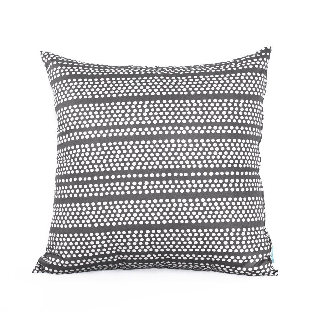 "20"" X 20"" Modern Gray & Beige Dotted Stripe Pattern Throw"