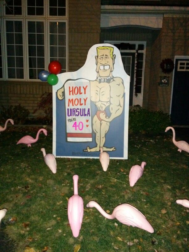 Happy 40th Birthday lawn sign starting from 65 pick up Check out