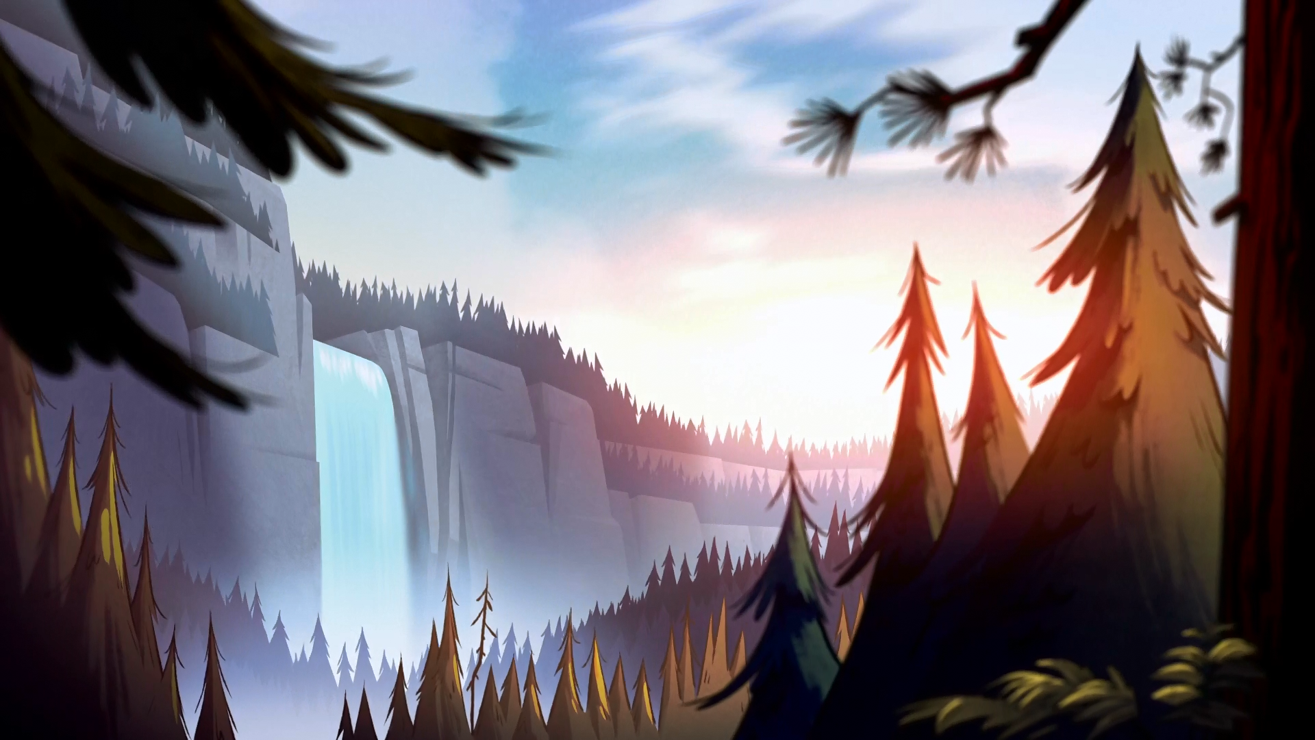 Gravity Falls Desktop Background Пейзажи, Гравити фолз