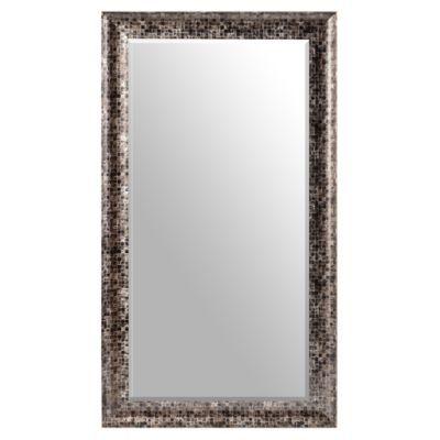 Black Mosaic Framed Mirror, 32x56 in | Mirror, Floor ... on Floor Mirrors Decorative Kirklands id=31797