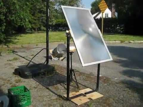 Fresnel Lens Solar Cooker Using Tv Lens Preparing For