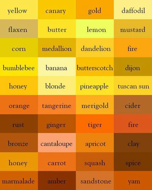 240 Color Names In English