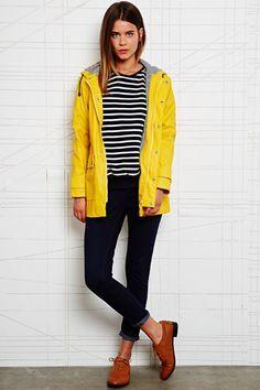 raincoat yellow look with stripe recherche google ratp. Black Bedroom Furniture Sets. Home Design Ideas