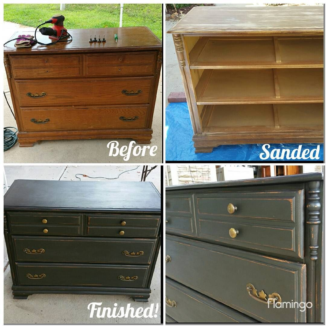 A Dresser I Painted Sanded And Waxed For A Destressed Look 7 5
