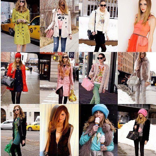 Chiara Ferragni fashionweek 2013 looks
