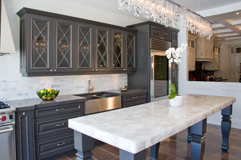 Caesarstone Concetto White Quartz Table; Aya Kitchens ...