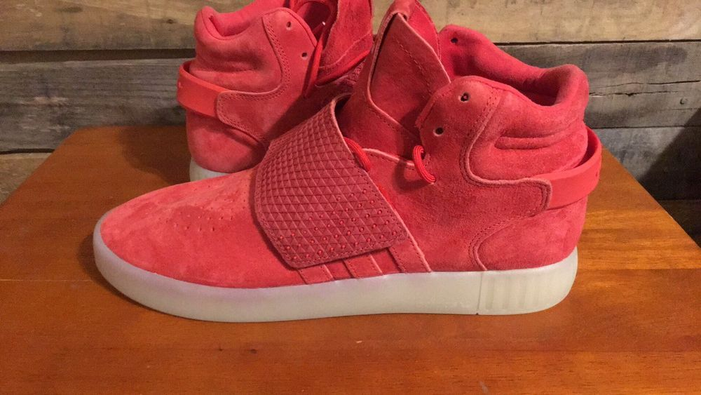 premium selection 87aa6 0dfb0 Adidas Originals Tubular Invader Strap Red Mens Sz 9.5 Suede Sneaker BB5039   fashion  clothing
