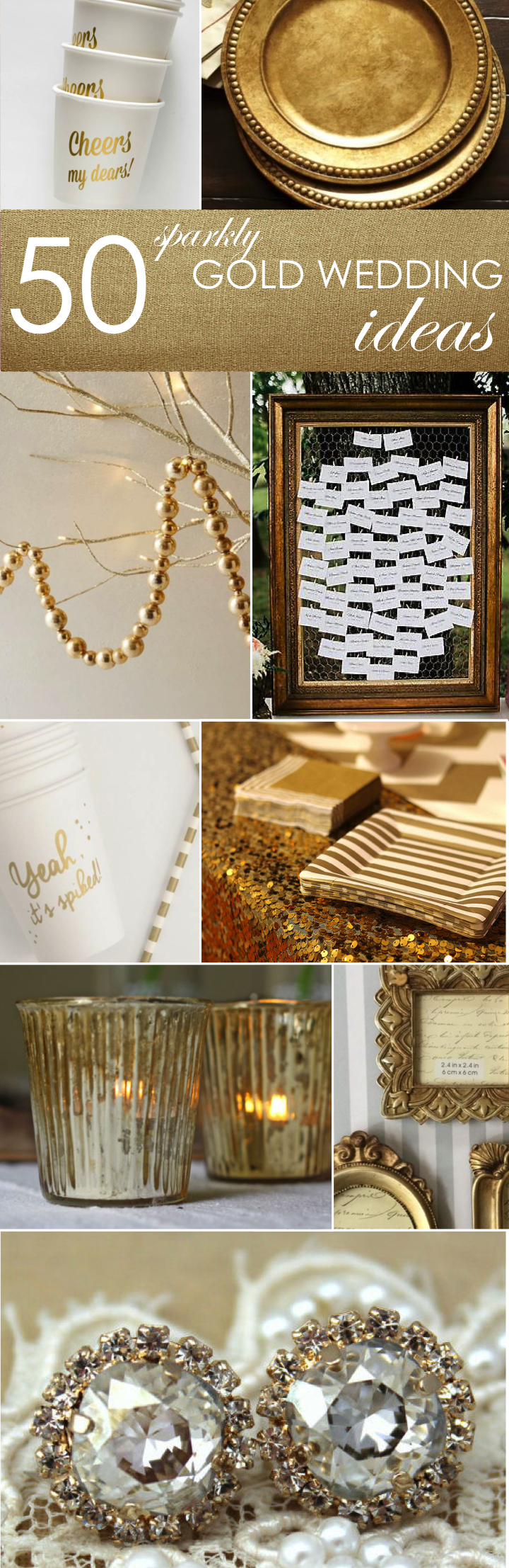 50 gold ideas for weddings parties gold for Gold party