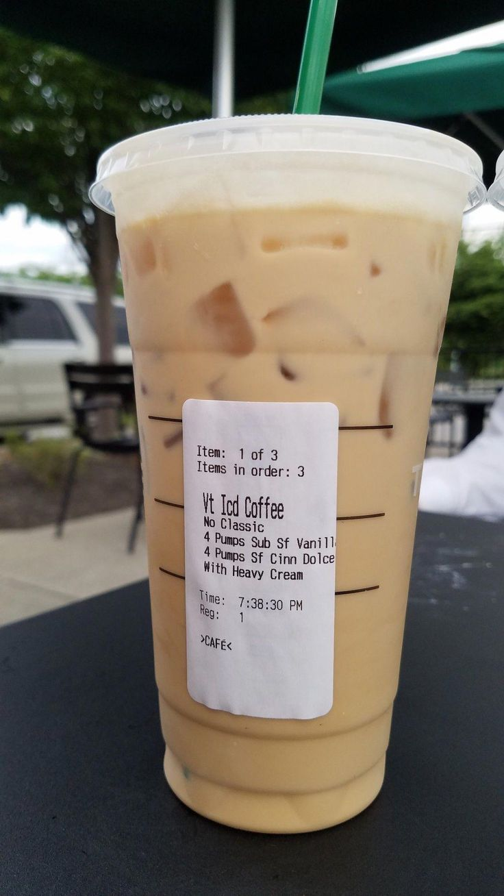 This low carb iced coffee order at Starbucks was PERFECT