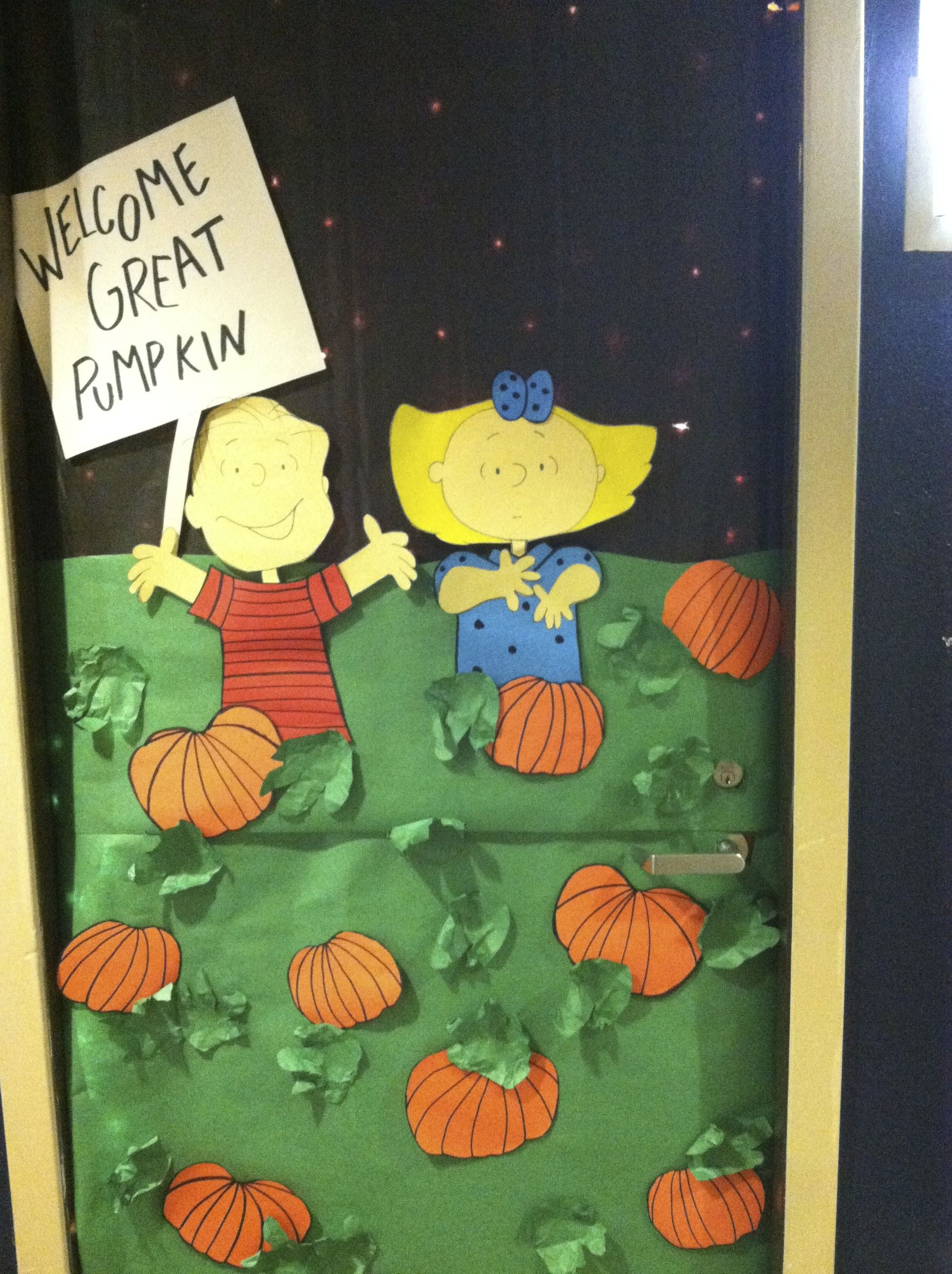 Pumpkin Door Decoration Design Decoration