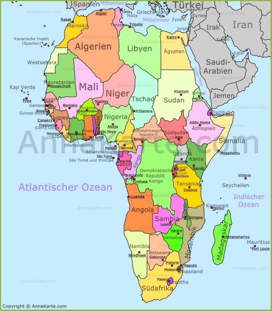 Pin Von Sima Auf Lernen Erdkunde In 2020 Afrika Karte Landkarte