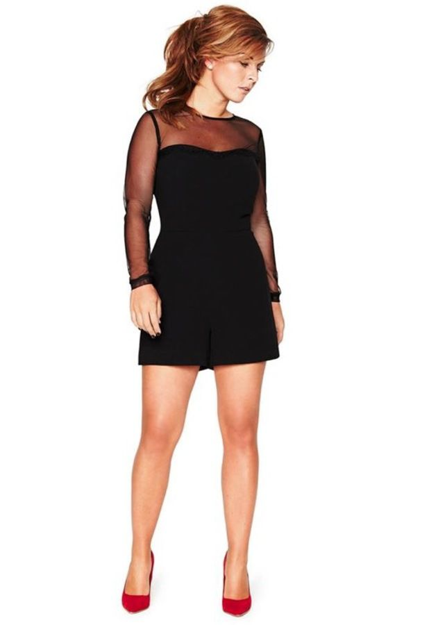 latest design shoes for cheap later Coleen Rooney Littlewoods autumn/winter mesh black playsuit ...