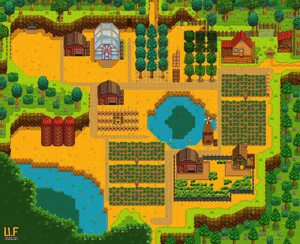 Plan For A Wilderness Farm Farmsofstardewvalley Stardew Valley Farms Stardew Valley Stardew Valley Layout