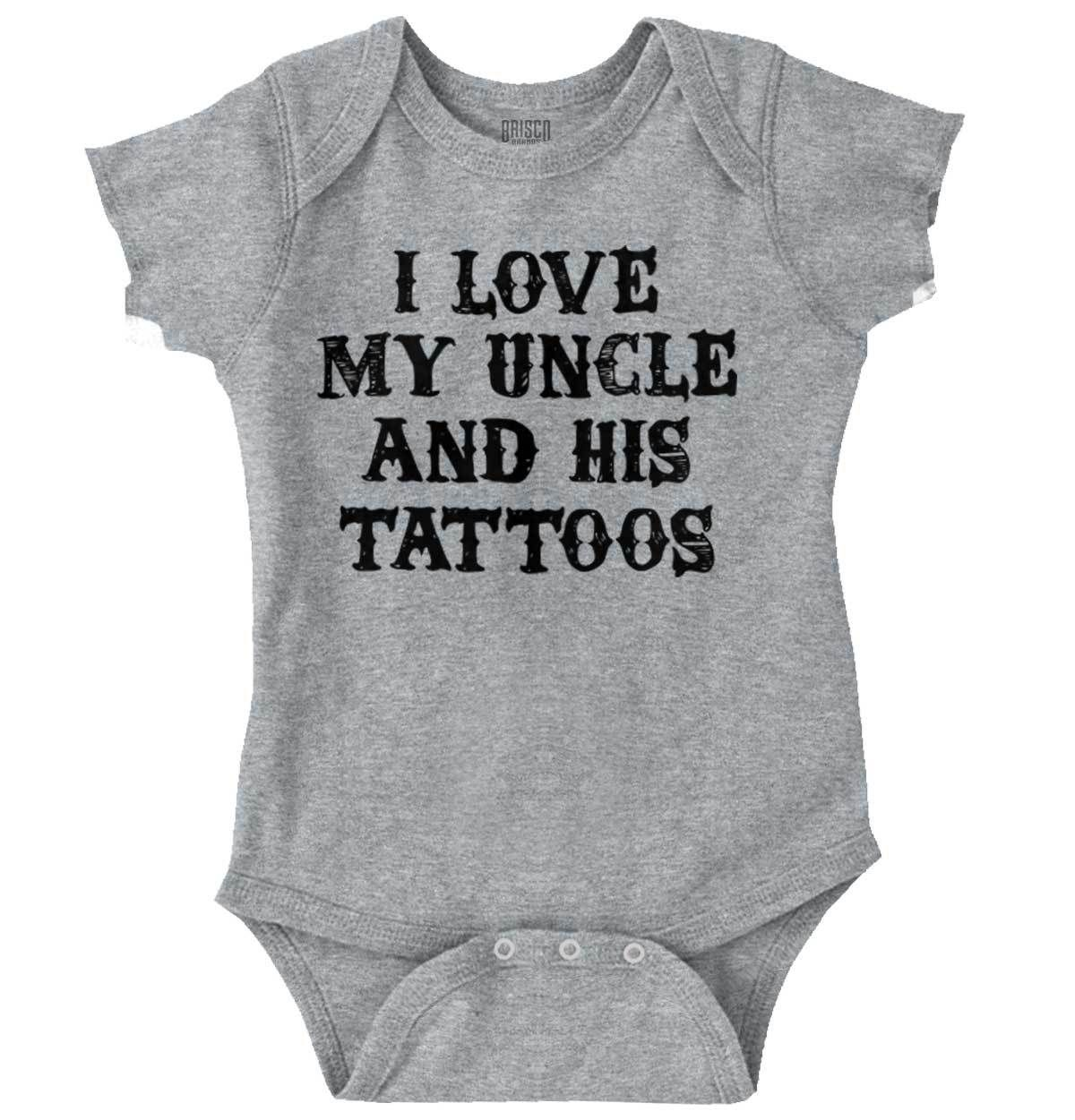 Uncle's Tattoos Romper Bodysuit (With images) Cute baby