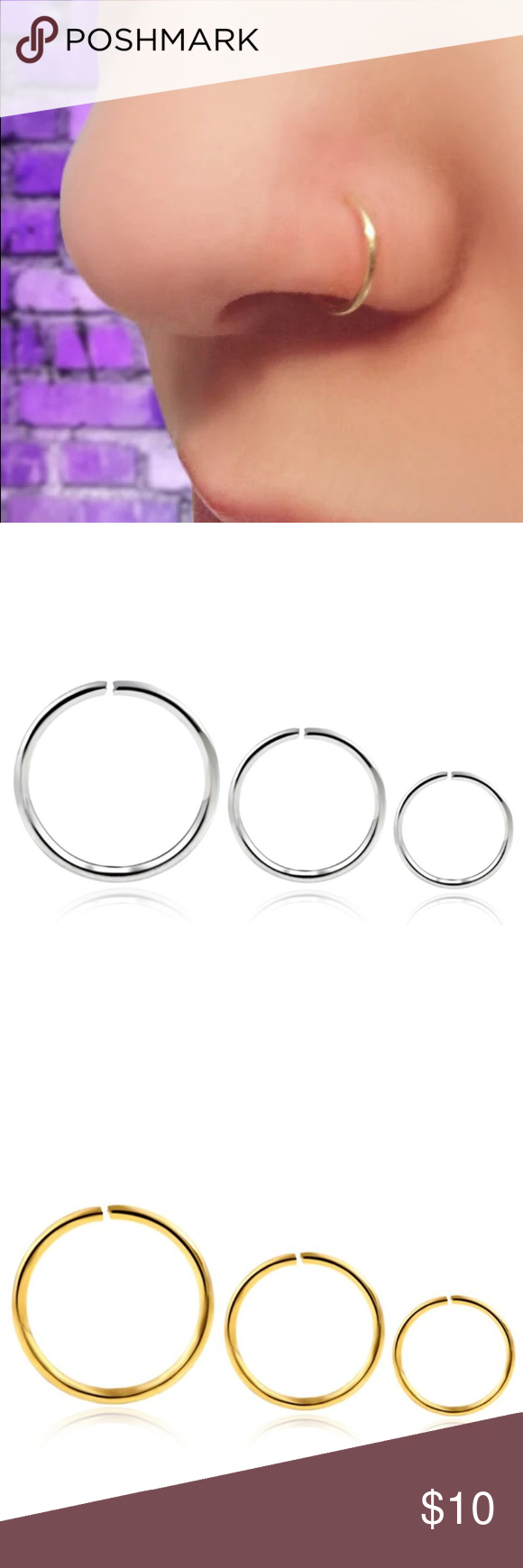 Handmade Nose Ring Hoop Boutique Nose Rings Hoop Nose Ring Handmade Jewelry Ring