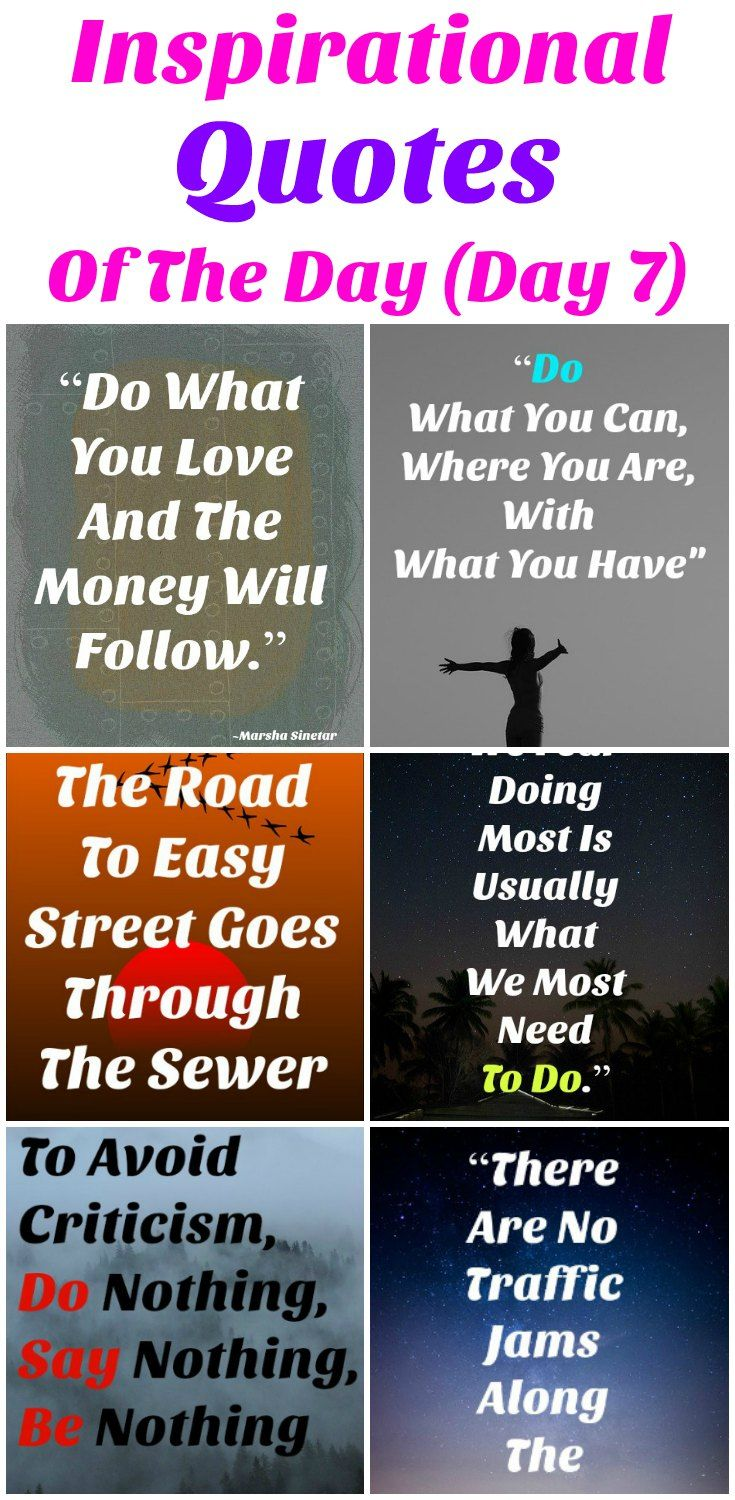 Life Changing Inspirational Quotes Inspirational Quotes Of The Day  Day 7  Wisdom Quotes