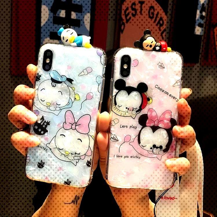 3D Minnie Phone Case Cute Cartoon Bear Cover Samsung Galaxy - Phone Cases -