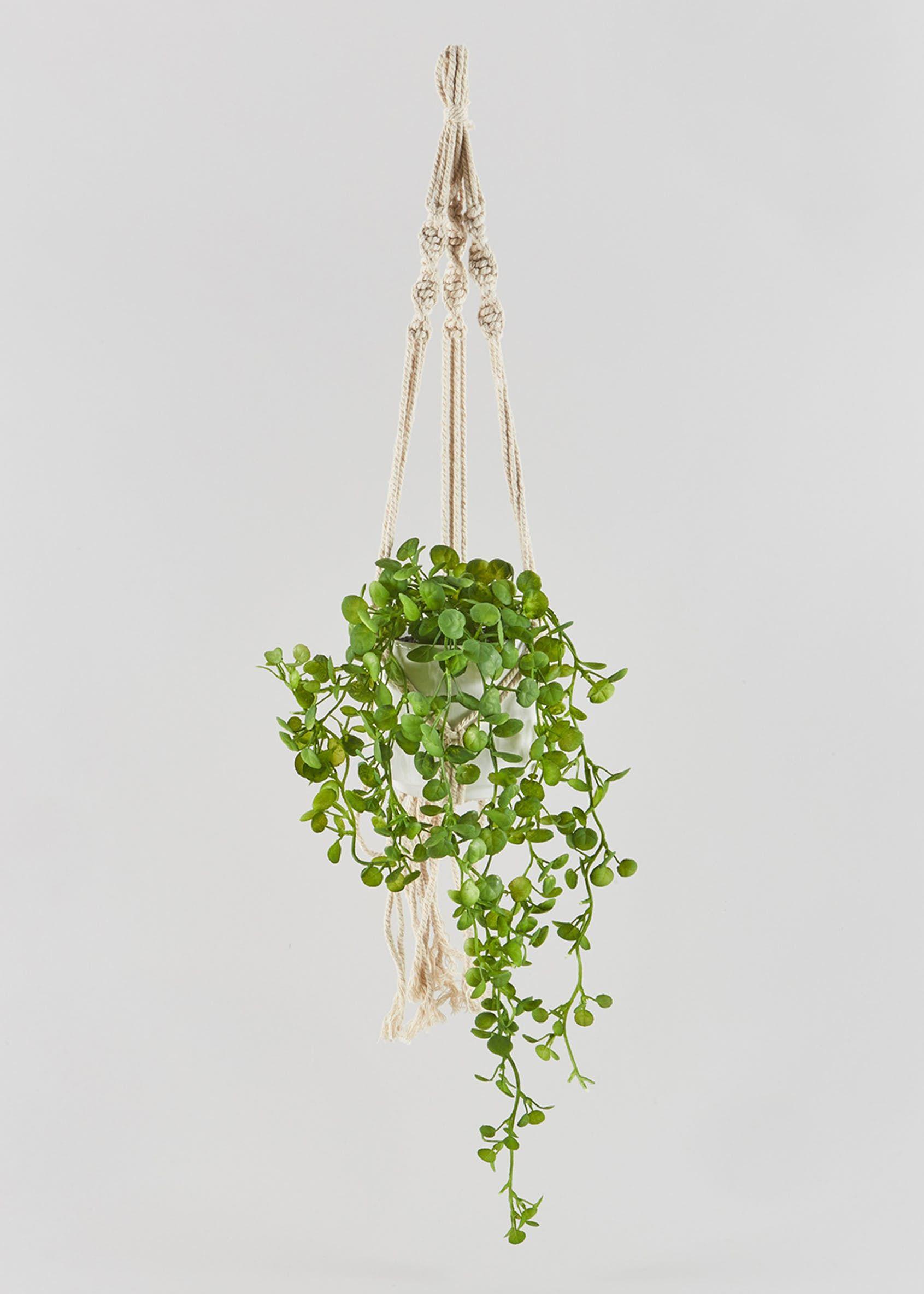 Hanging Plant 60cm Green Hanging Plants Artificial Hanging Plants Small Artificial Plants