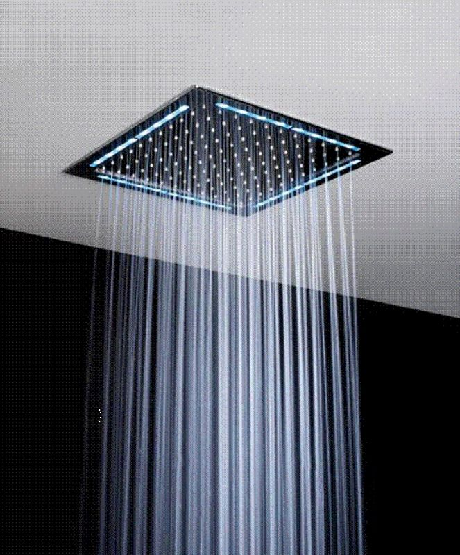 Sensible Led Shower Head Color Changing Shower Head No Battery Bathroom Accessories Home Improvement Shower Heads