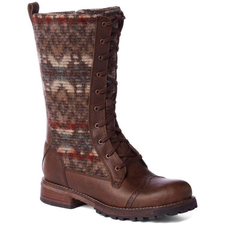 Woolrich Santa Fe Boot In Chicory/Blanket Red Wool