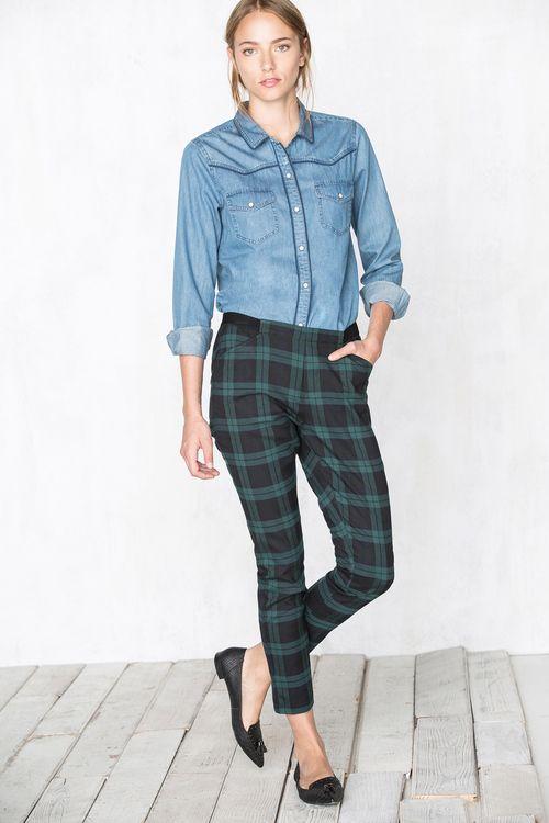 pantalones cortefiel mujer tartan - Buscar con Google