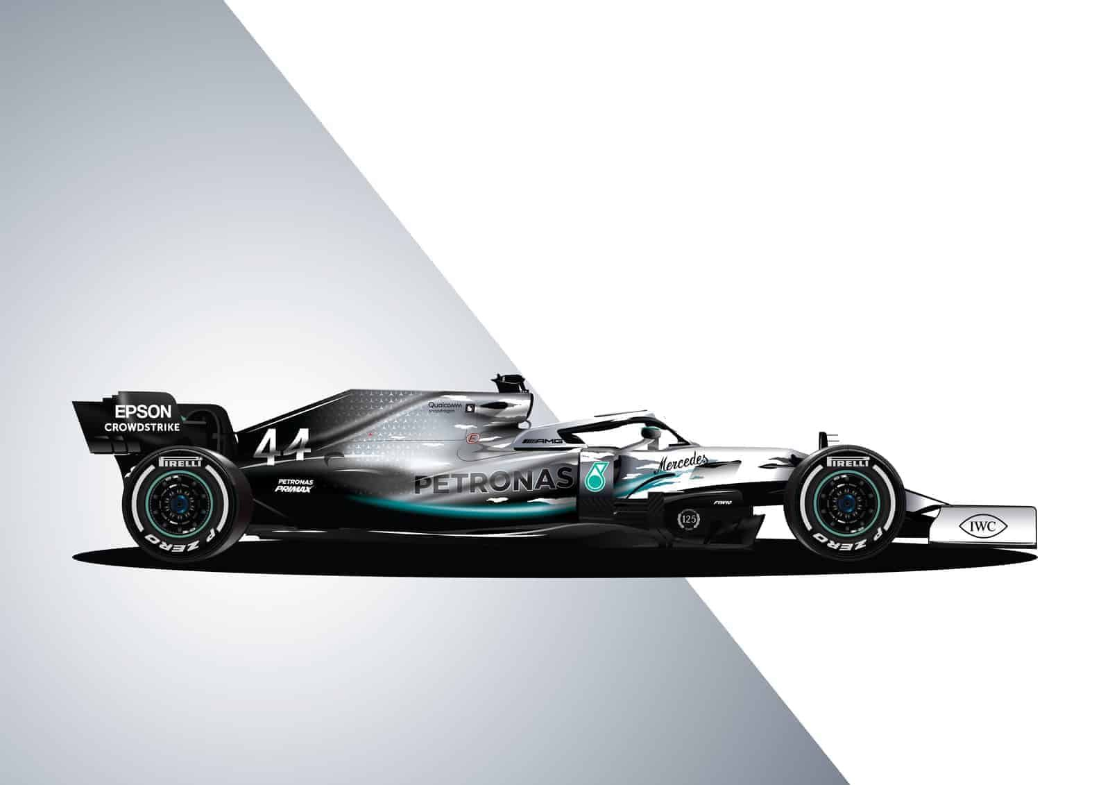 Mercedes W10 125 Years The Gpbox Mercedes F1 Poster Mercedes Amg Gt R [ 1131 x 1600 Pixel ]