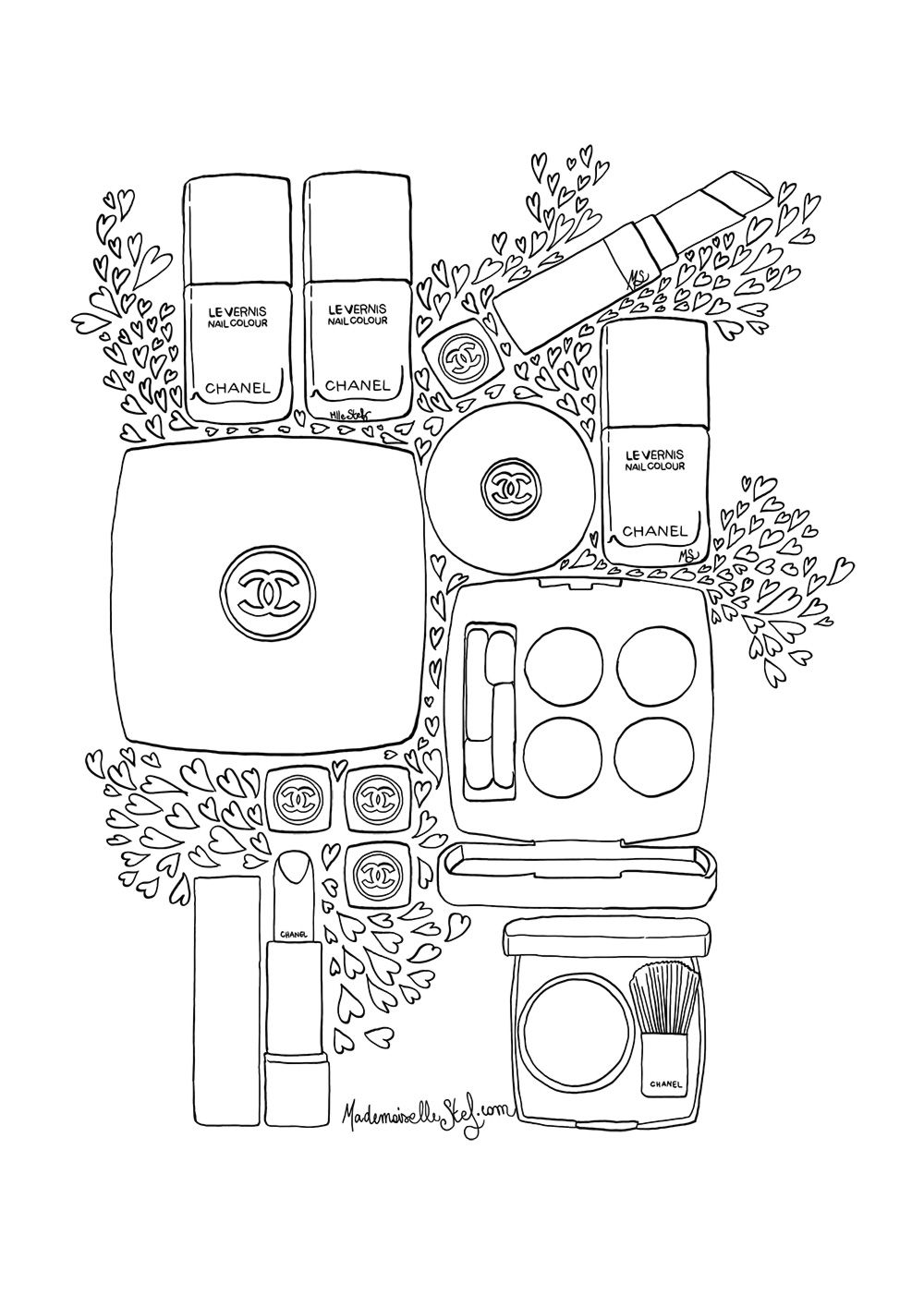 50+ Coco chanel coloring pages info