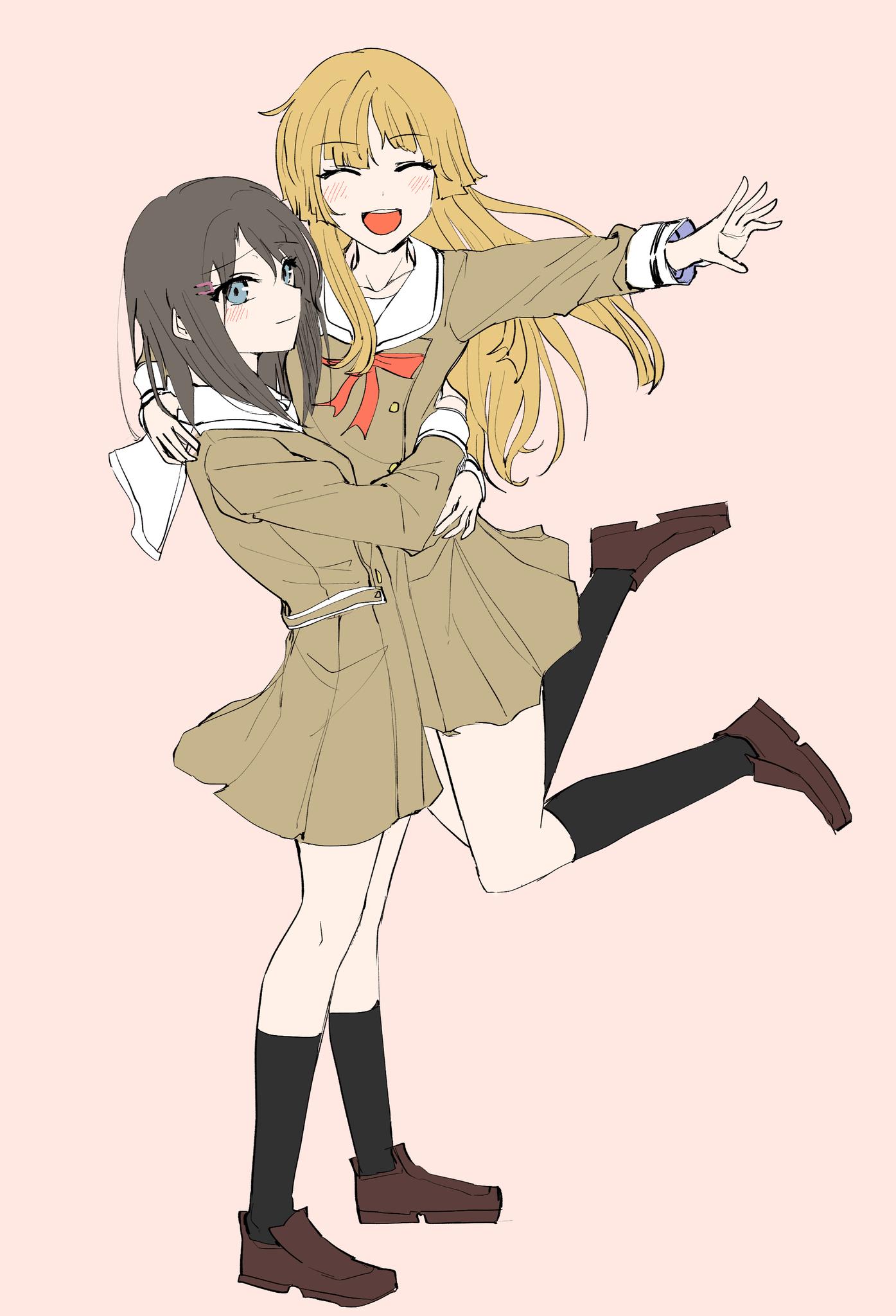 Anime Cute Lesbians pin on bang dream!