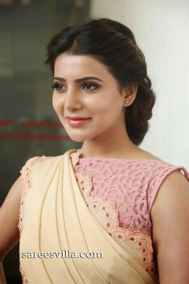 Hairstyle For Thin Hair In Saree Saree Hairstyles Samantha In Saree Hairstyle